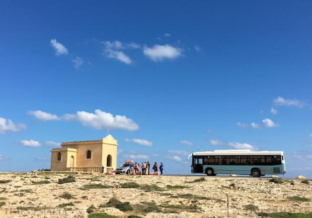 A group of tourists arrive at L-Ahrax in Mellieha as homing pigeons are let off on November 16. Photo: Matthew Mirabelli