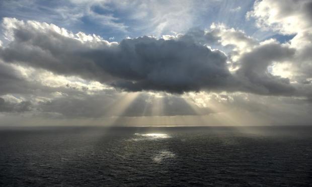 The sun's rays burst through the clouds off Dingli Cliffs on January 7. Photo: Chris Sant Fournier