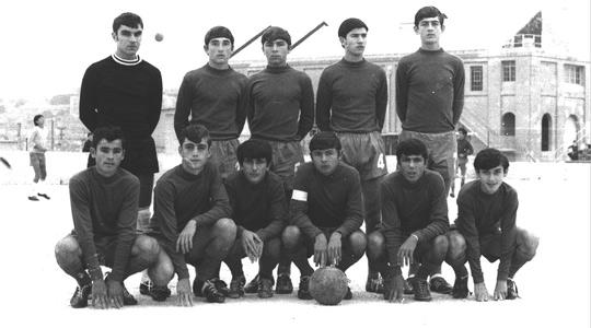 The first Pietà Hotspurs minors team in 1968.