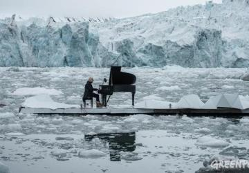 WATCH: Pianist performs while floating in the Arctic Ocean