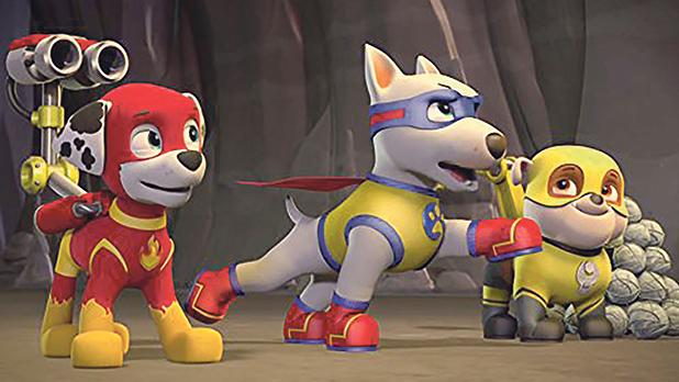 Little pups are intent on saving the world in Paw Patrol:Mighty Pups.