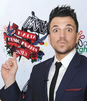 Peter Andre at the Malta Music Awards last<br />Sunday. Photo: Gino Galea