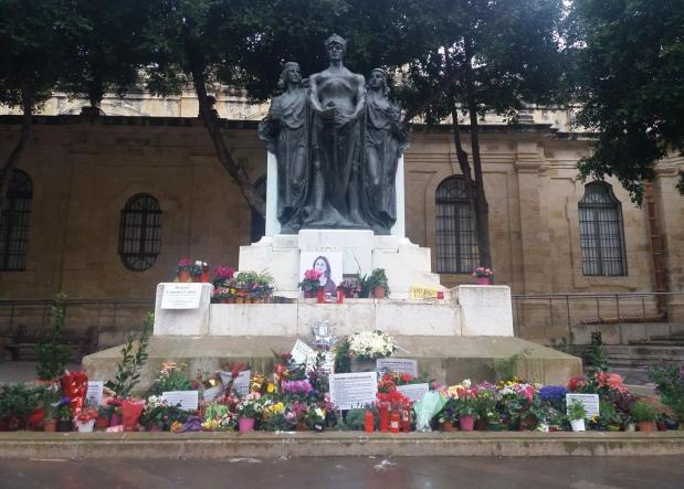 The memorial as seen on February 20.