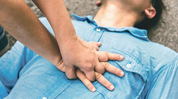 Cardiopulmonary resuscitation (CPR) is a lifesaving technique useful in many emergencies, including a heart attack or near drowning, in which someone's breathing or heartbeat has stopped. Photo: Shutterstock.com