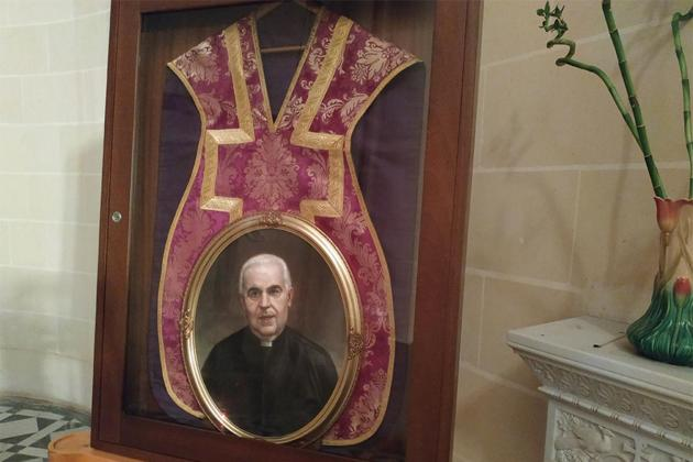 Holy priest's chasuble on display at Ta' Pinu