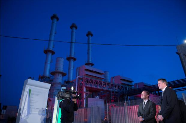 Malta's Prime Minister Joseph Muscat and Minister Konrad Mizzi preside over the inauguration of the new Delimara power plant outside Marsaxlokk. Photo: Reuters