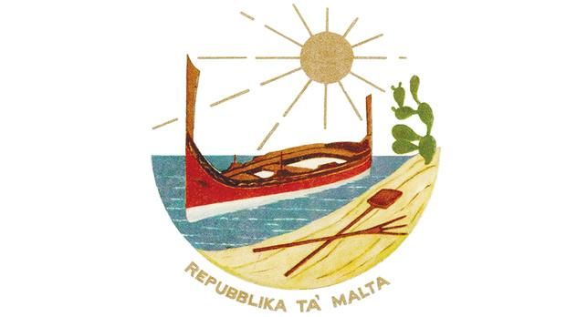The 1975 Republic emblem of Malta.