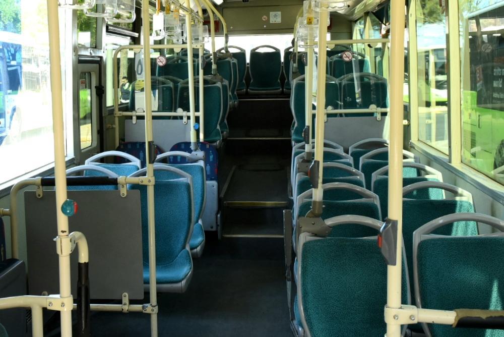 An empty bus on Friday morning. Photo: Chris Sant Fournier