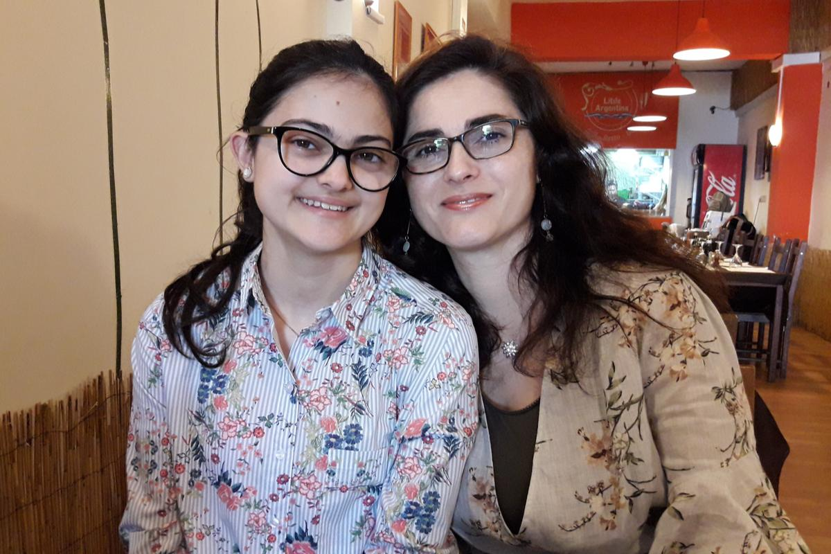 Diane (right) with her 17-year-old daughter Miriana, who was a toddler when her grandmother was killed