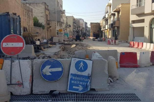One year on, Balzan road project remains a construction site