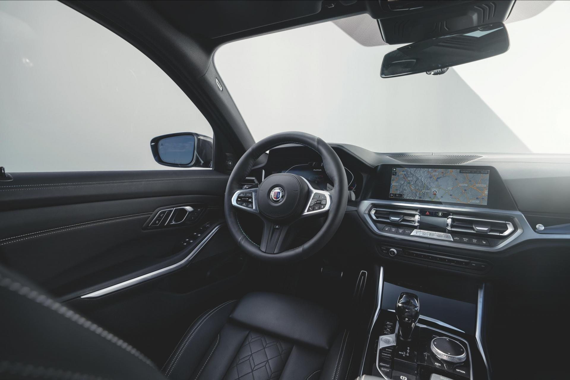 The interior of the D3 boasts hand-stitched leather.