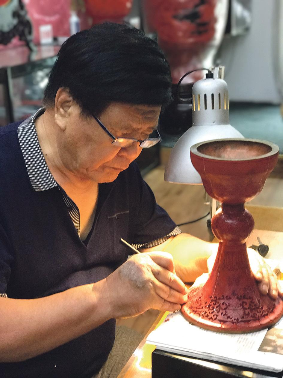 Chinese filigree inlay process