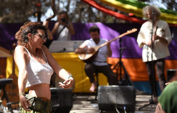 A woman dances to music during the Earth Garden festival in Ta' Qali on June 3. Photo: Mark Zammit Cordina