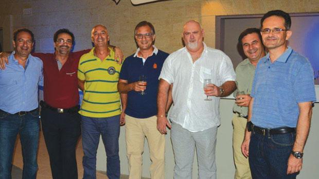 Seen here are Mario de Marco, Victor Grech, Victor Scerri, Christian Sammut, Francis Albani, James Caruana and Paul Cassar.