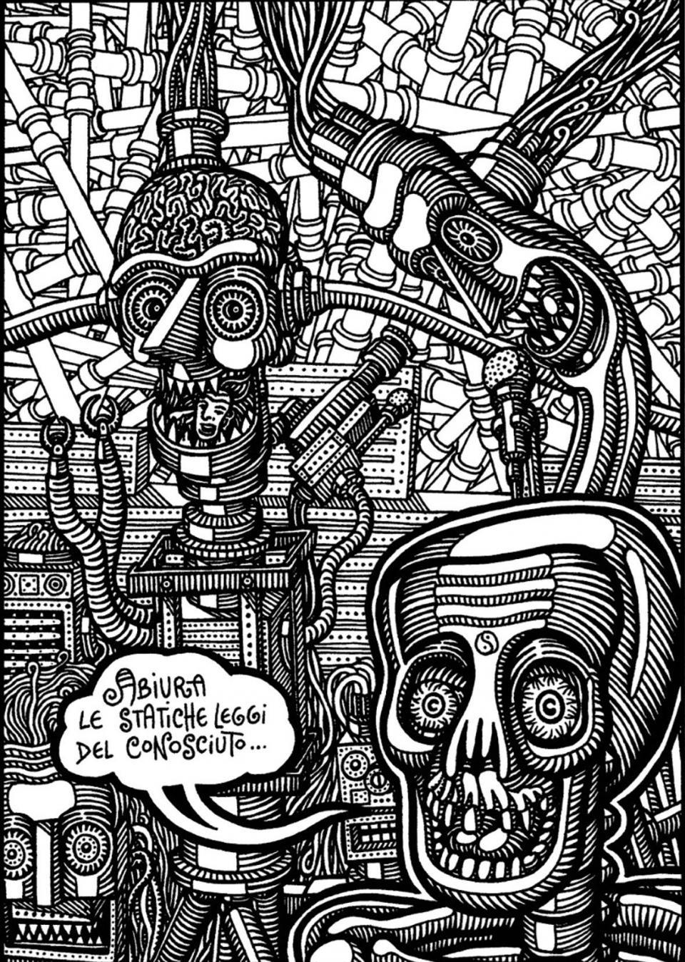 An illustration by Gianluca Lerici, aka Prof. Bad Trip.