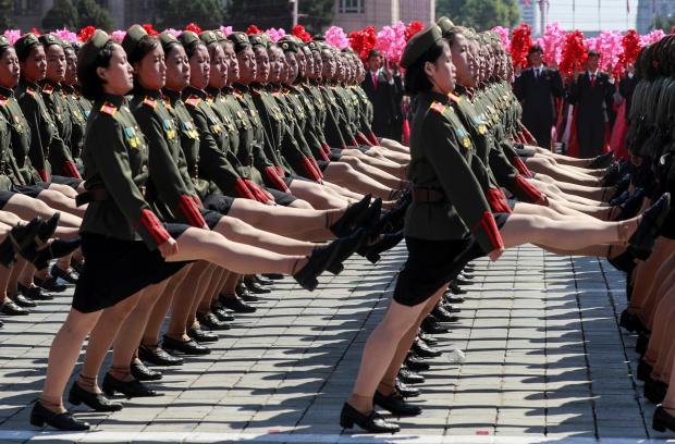 Soldiers march during a military parade in Pyongyang. Photo: Reuters/Danish Siddiqui