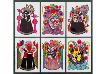 Characters from Chinese Opera by Zhou Guang