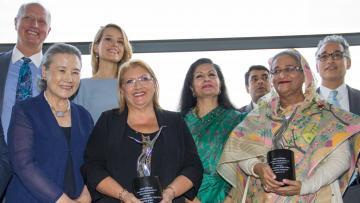 President Marie-Louise Coleiro Preca won the UN's Agent of Change award on Thursday.