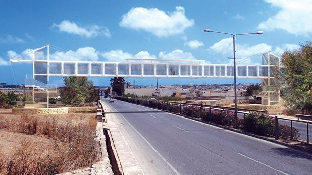An artist's impression of the bridge across the Qormi bypass.