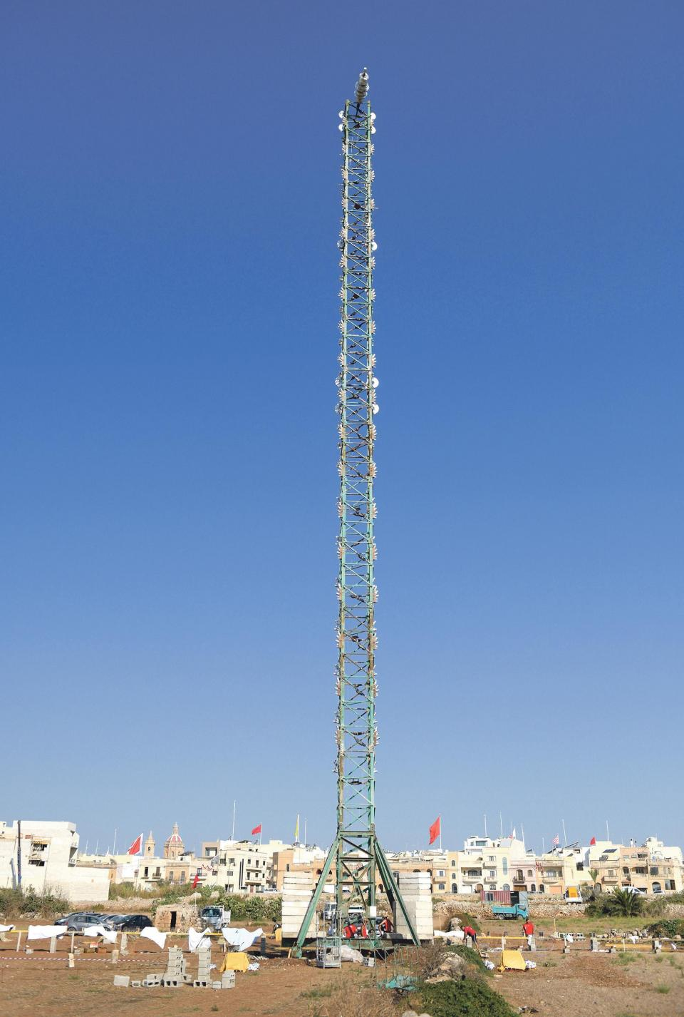 Taking centre stage is a 57-metre tower with 6,000 fireworks shots rigged to it.