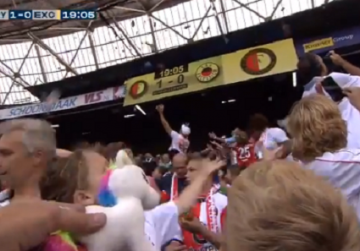 Watch: Dutch football fans shower patients with soft toys