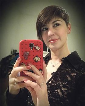 Johanna holding the mobile phone which went missing after her fatal accident.