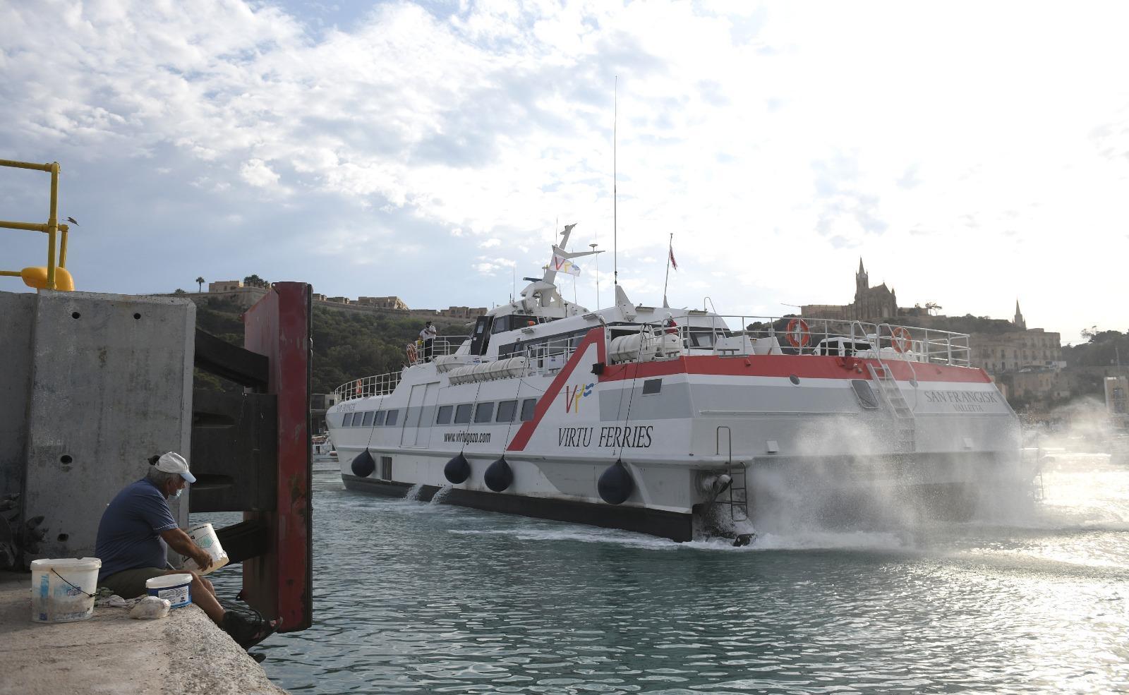 Virtu Ferries arriving at Mġarr Photo: Matthew Mirabelli