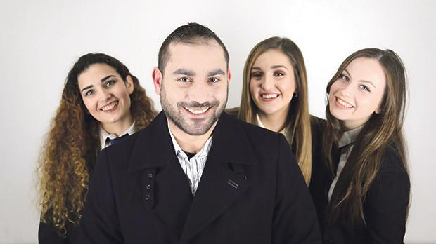 From left: Mattea Gouder, Joe Gatt, Michela Agius and Rebecca Attard.