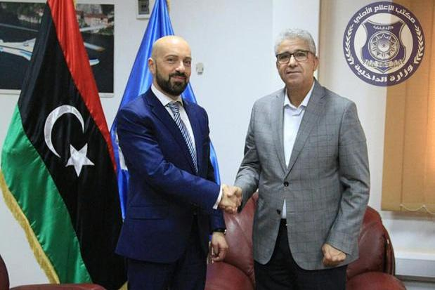 Neville Gafà with Libyan minister Fathi Pasha.