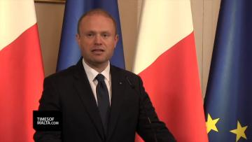 Prime Minister Joseph Muscat speaking about the attack. Video: Matthew Mirabelli