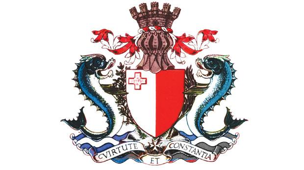The 1964 Independence shield of arms of Malta.