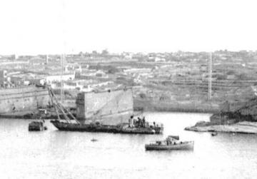 Admiralty Floating Dock No. 8 was demolished at Rinella Creek after World War II.