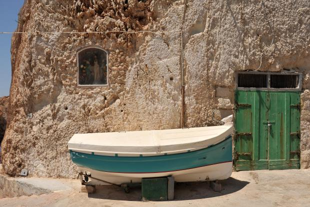 A niche containing a statue of Jesus at Ghar Lapsi on July 19. Photo: Chris Sant Fournier