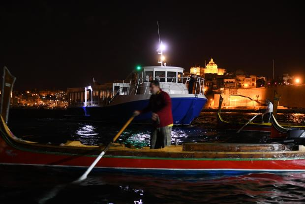 Boatmen protest obstructions at Grand Harbour on October 7. Photo: Jonathan Borg