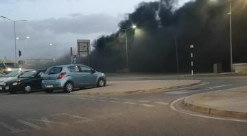 Watch: Bus catches fire while parked at Ċirkewwa terminus | Dramatic scene at Cirkewwa on Monday morning. Video: Pierre Sciberras