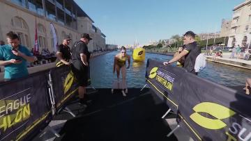 Watch: Spivey and Schoeman draw first blood | Video: Super League Triathlon