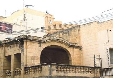 The Loġġja tal-Palju and (below) the 32-room World War II shelter complex, up for restoration.