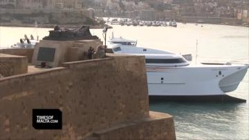 New catamaran MV Saint John Paul II completes delivery trip from Tasmania | Video: Chris Sant Fournier