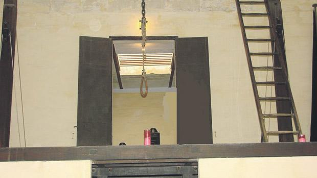 The gallows at Corradino Prison where Ġużeppi Micallef was executed.
