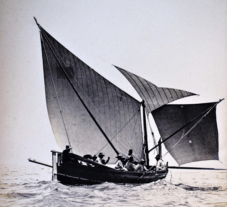 A Gozo boat, tal-latini, in full sail, 1910s. Photo: Edward A. Gouder