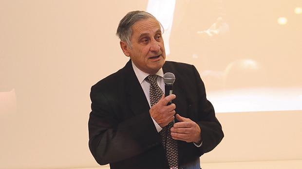 Mro Vella speaking during the inauguration of the archive in his memory. Photos: Charles Spiteri