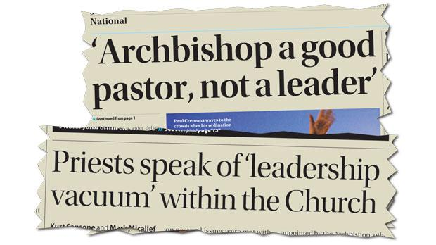 Times of Malta reported unrest within the Church under Mgr Cremona's leadership in August.