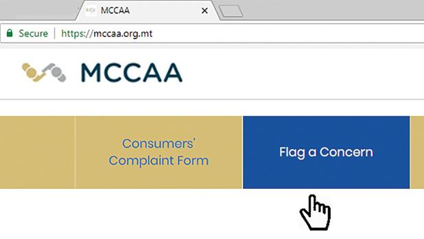 The 'Flag a concern' form may be accessed through the MCCAA's website and through the authority's mobile app.