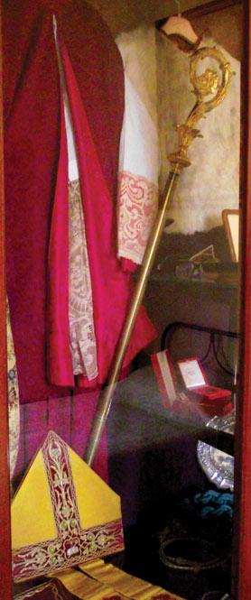 Various memorabilia of the late bishop at Jesus of Nazareth Institute, Żejtun.