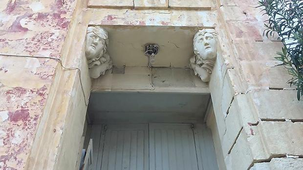 An architectural detail of one its entrances.