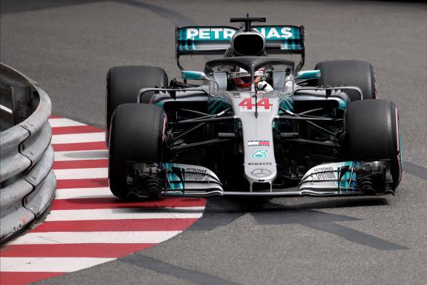 Mercedes' Lewis Hamilton during practice.