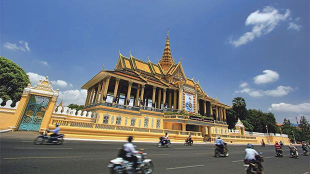 Moonlight Pavilion, the Royal Palace in Phnom Penh, Cambodia.