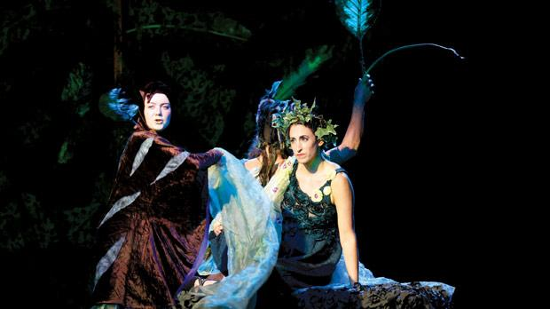 Maeve Leahy (left) as Hermia and Noa Bodner as Titania, the fairy queen. Photo: Darrin Zammit Lupi