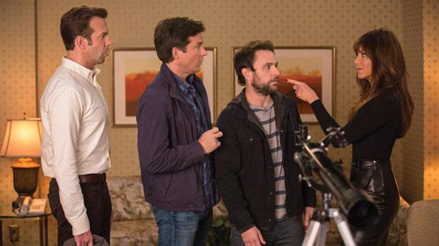From left: Jason Sudeikis, Jason Bateman and Charlie Day meet more horrible bosses, while still dealing with old ones, including Jennifer Aniston.