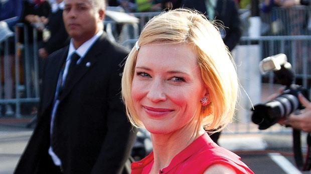 Australian actress Cate Blanchett, who will reprise her role as Galadriel, on the red carpet.